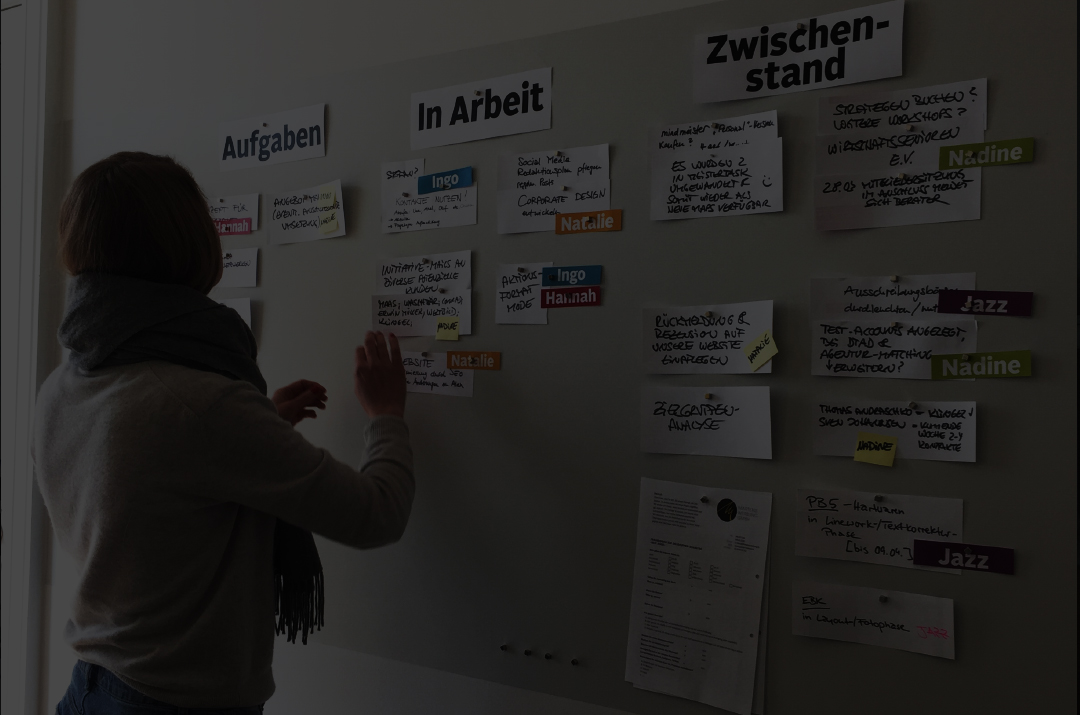 Marketing Agiles Arbeiten am Kanban Board